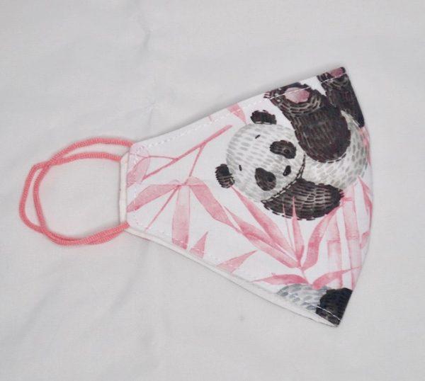 Mascarilla oso panda rosa